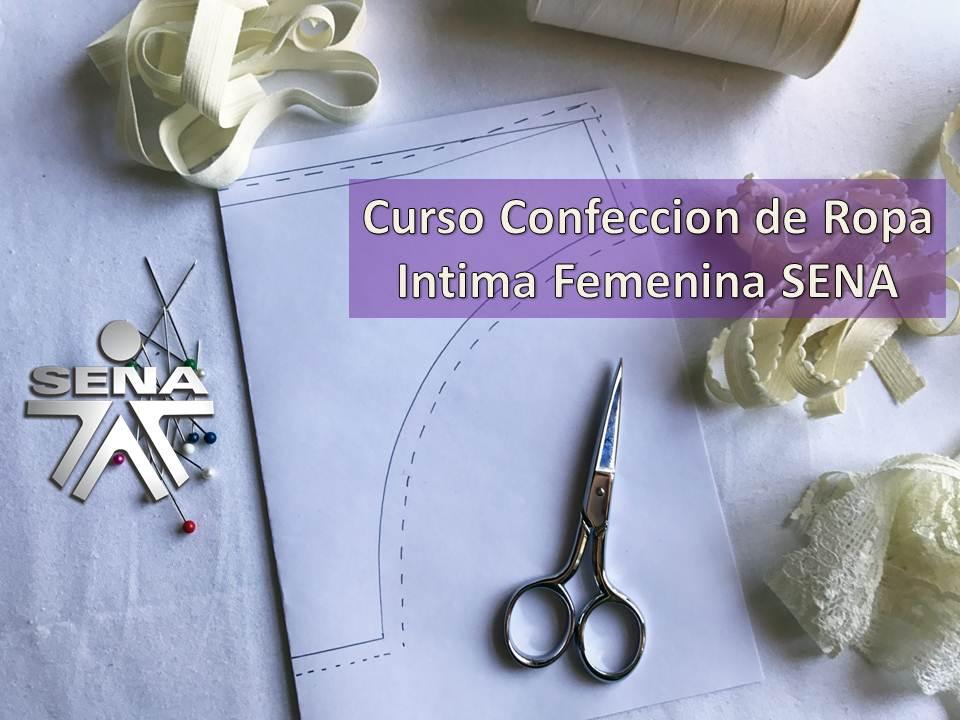 dcf6a7d097 Curso Confeccion de Ropa Intima Femenina SENA ¡Aprovecha!