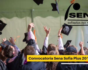 Convocatoria Sena Sofia Plus 2019