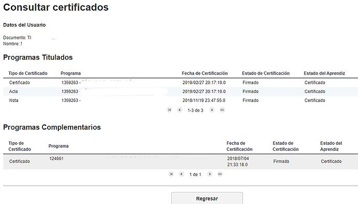 Certificados SENA