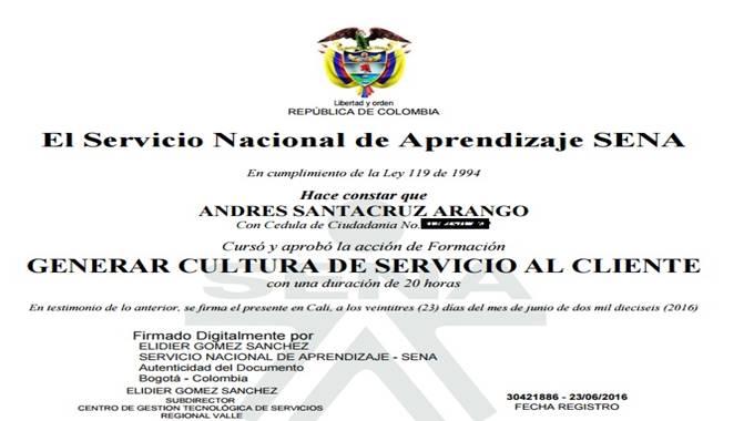Certificado Digital SENA