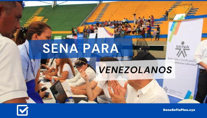 SENA para venezolanos